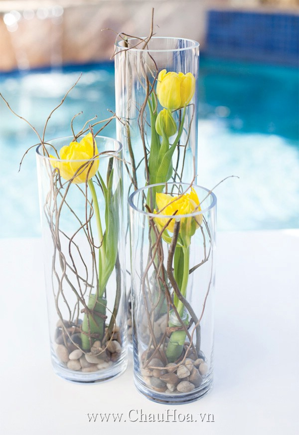 Glass Vase Dining Table Centerpiece